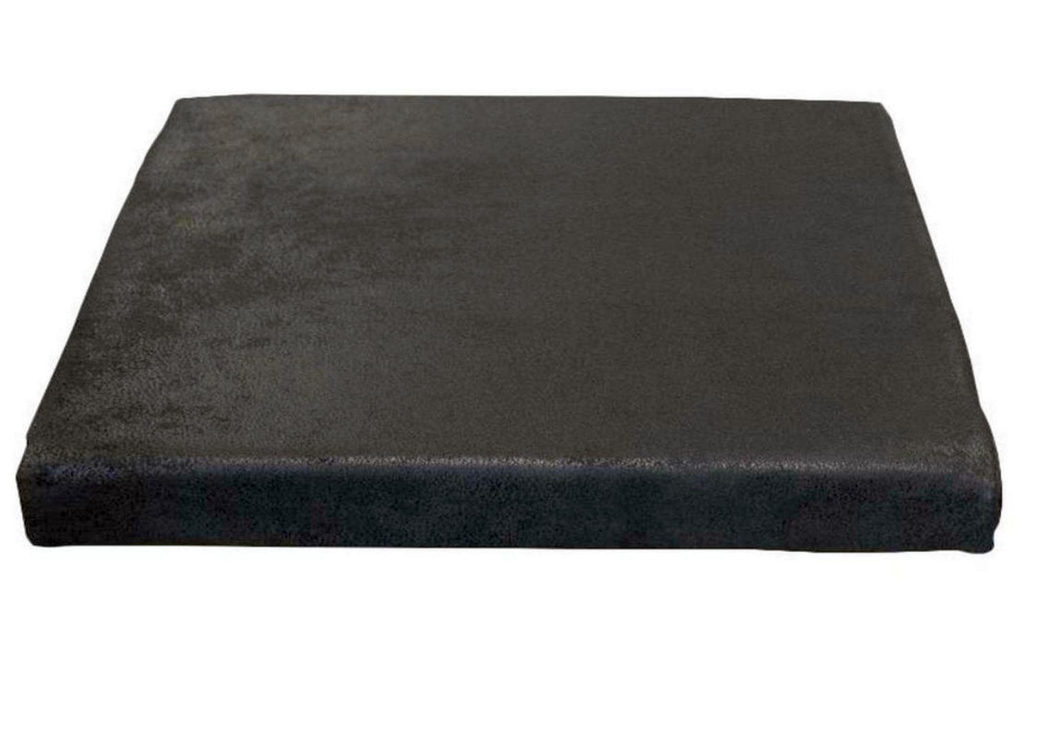 Bankauflage Stoff Klemmkissen Stuhlkissen Sitzkissen Sitzauflage buffalo schwarz