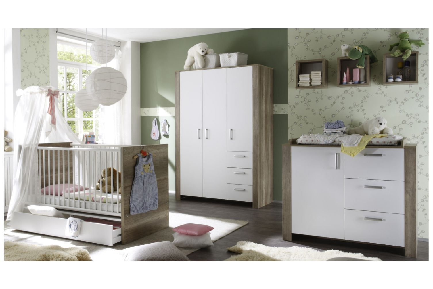 kinderzimmer baby set komplett erstausstattung. Black Bedroom Furniture Sets. Home Design Ideas