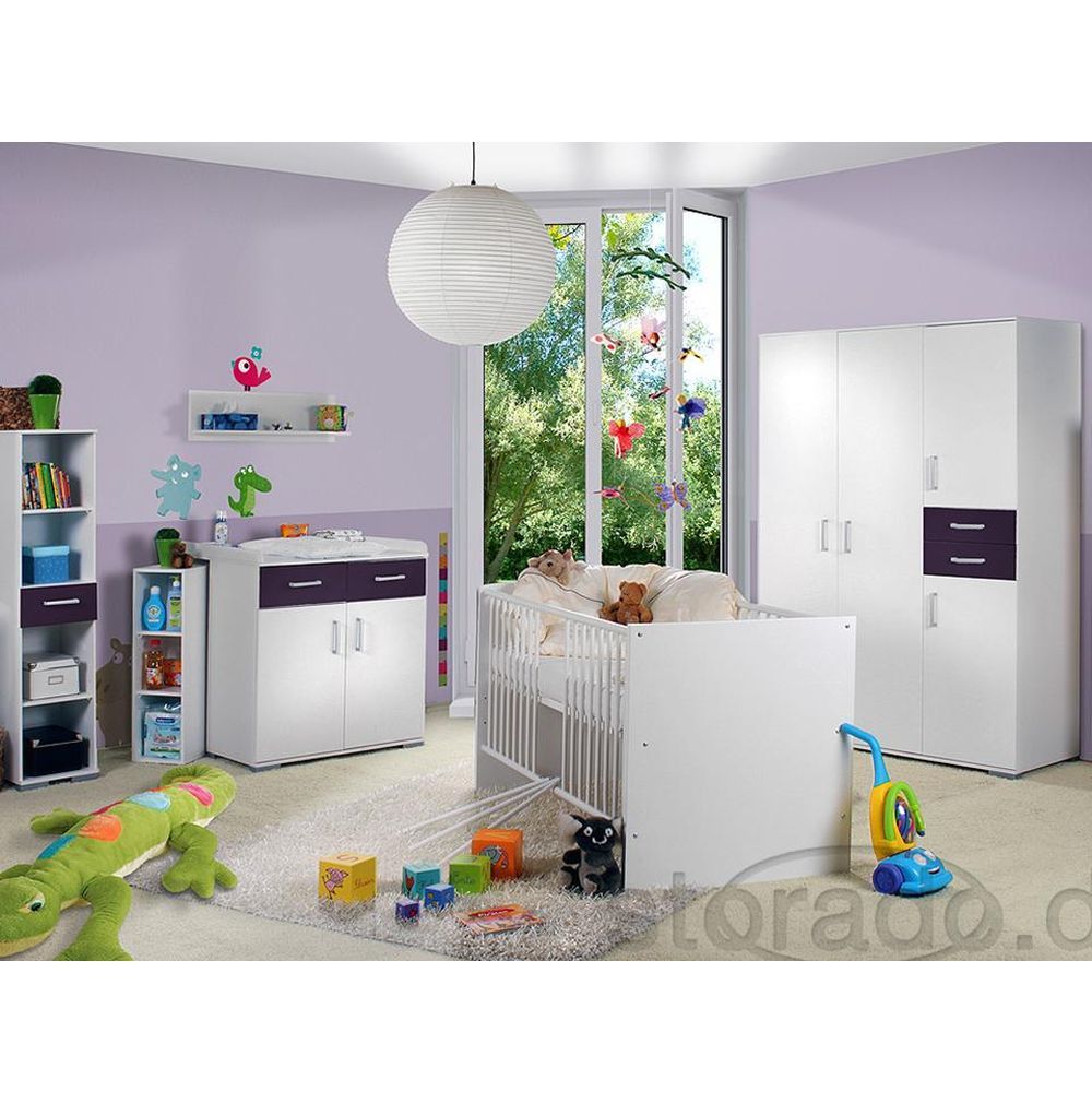 babyzimmer lila kinderzimmer wickeltisch umbauseiten ebay. Black Bedroom Furniture Sets. Home Design Ideas