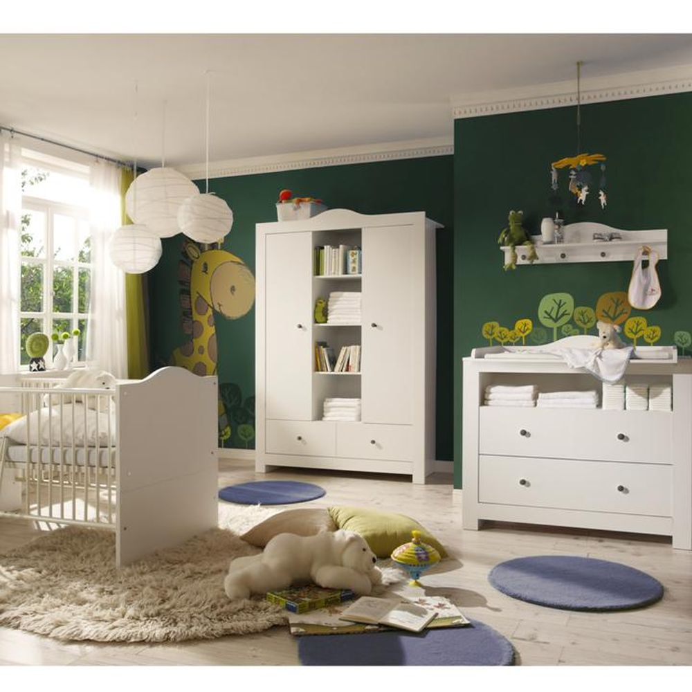 babyzimmer neu zwillinge zwillingszimmer zwillingsbett komplettzimmer babybett ebay. Black Bedroom Furniture Sets. Home Design Ideas