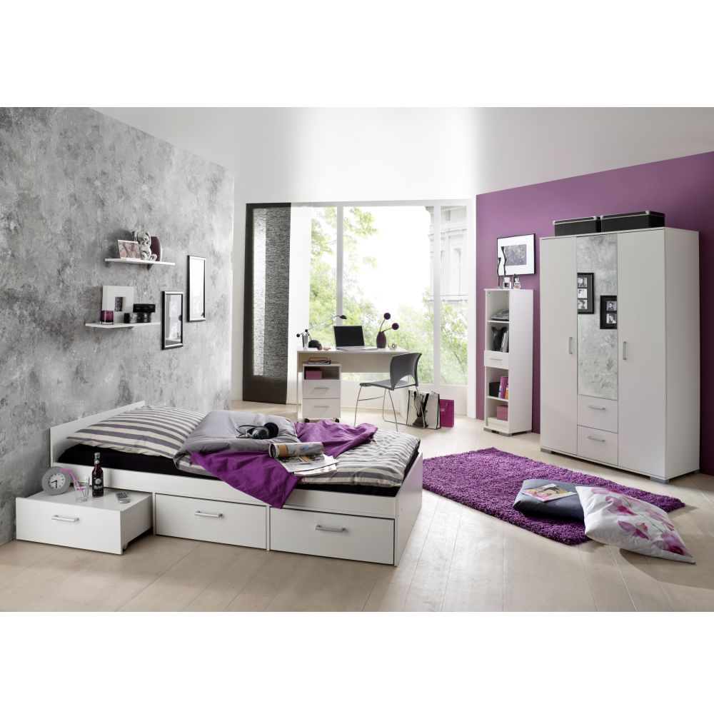 jugendzimmer wiki ahorn weiss bett schrank regal kinder ebay. Black Bedroom Furniture Sets. Home Design Ideas